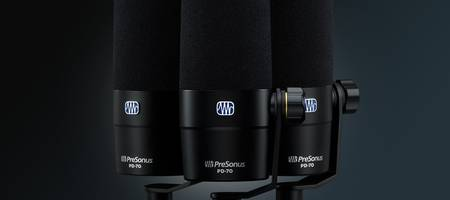 PreSonus PD-70 Broadcast Mic Delivers Clarity for the Spoken Word