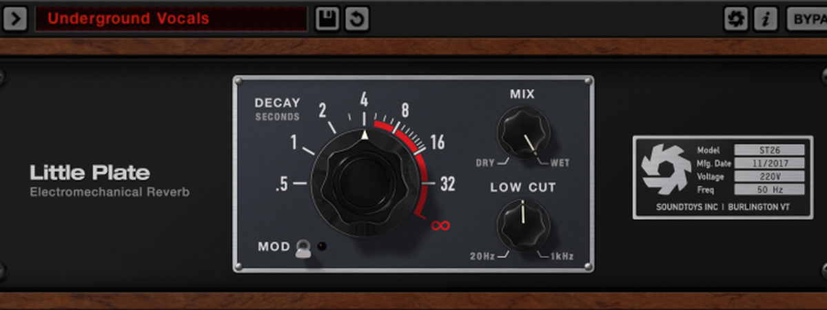 Free download: Little Plate Reverb by SoundToys