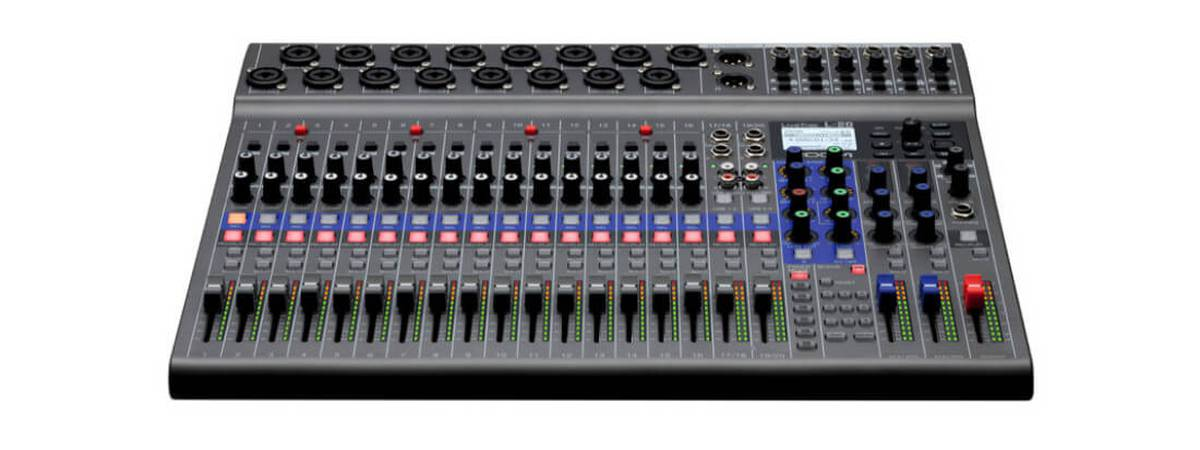 Zoom unveils the new LiveTrak L-20 digital mixing console