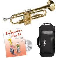 Cascha EH 3820 DE Bb Trumpet Fox beginnerset met softcase + lesboek