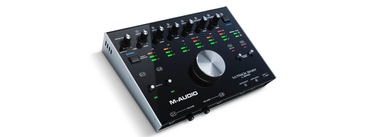 M-Audio introduces M-Track 8x4m usb audio interface 'the heart of your studio'