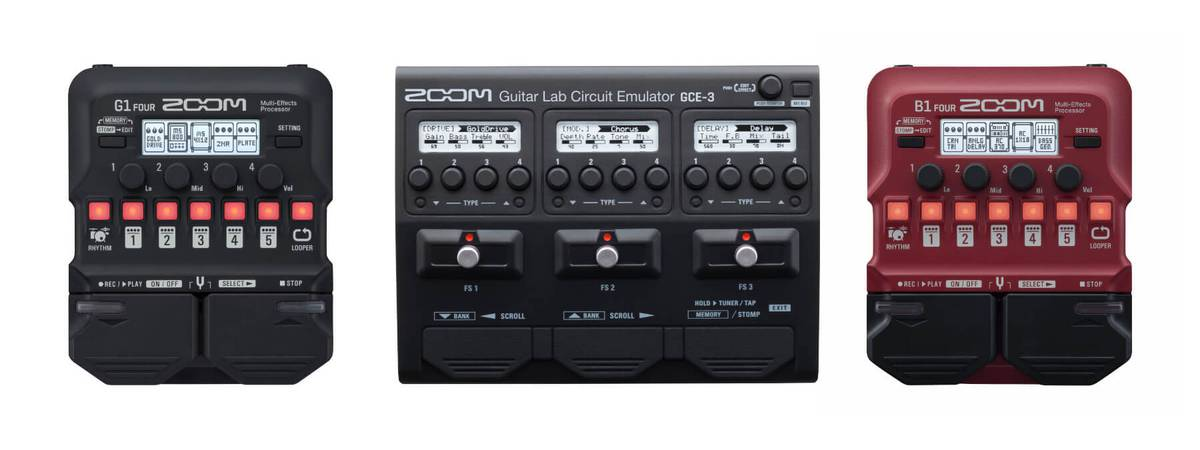 NAMM 2019: Zoom reveals new guitar effects GCE-3, G1 Four, G1X Zoom and B1X Four