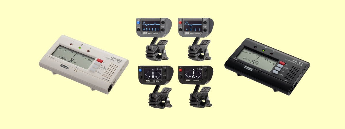 Korg presents Polyphonic, Clip-on, Chromatic, Guitar/Bass tuner series