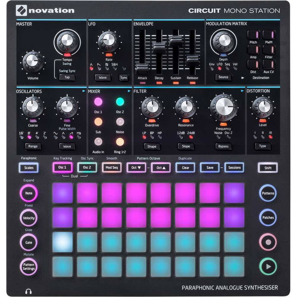 Novation Circuit Mono Station parafonische analoge synthesizer